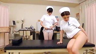 Hottest Japanese model Rina Fukada, Chika Hiroko, Imai Natsumi in Incredible Nurse, Anal JAV clip