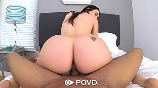 Young beauty with perfectly shaped tits Lana Rhoades is fucked on POV camera