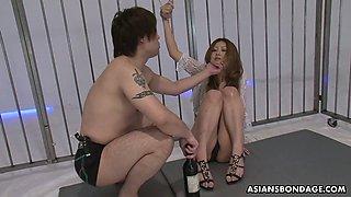 Bondage Asian babe Hibiki Otsuki gets her pussy and mouth punished