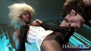 Black beauty Jasmine Webb orders her sexy maid Samantha