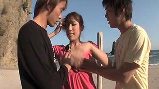 Exotic Japanese model in Amazing Blowjob/Fera, Lesbian/Rezubian JAV movie