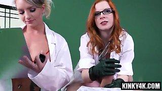 Redhead nurse femdom and cum in mouth