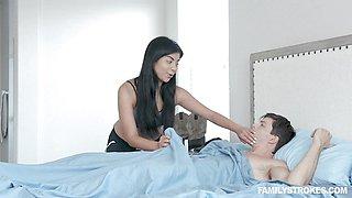 Dick craving teen bouncing on top