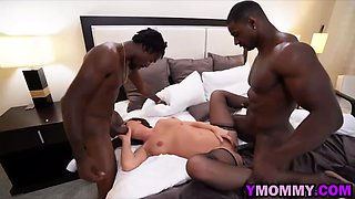 Smoking hot milf drilled by black guys