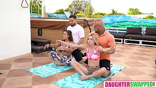 Curly Hair And Mixed Ethnicity - Yoga Stepdaddy Swap