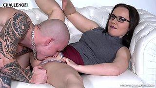 Bald guy gets his delicious cock satisfied by lovely Wendy Moon