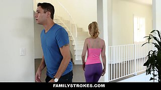 FamilyStrokes- Sexy Housewife Fucks Stepson