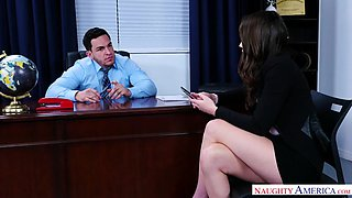 Busty secretary Ashly Anderson helps her boss date with sex - naughtyoffice