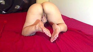 Mistress Masturbates and You Worship Her Feet