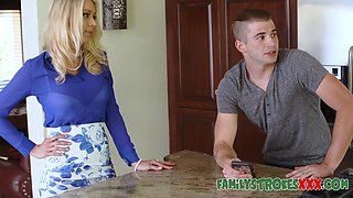 Hot Milf Fucks Young Son While Dad Is Out