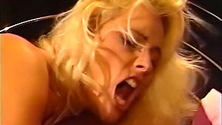 Sensational blonde beauty feeding on a dick and having passionate sex