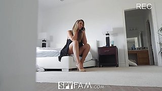 Sexy Step mom Brett Rossi massages step son huge dick