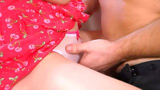 StepSister fucks virgin stepbrother riding him rough in the room