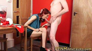 Redheaded cfnm amateur