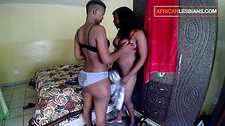 African Lesbian Girlfriend Study Break Fingering Passion