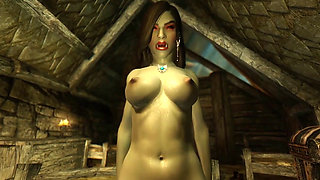 3D Orc Milf decides to fuck a human outlander Hentai