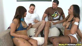 Cool group sex with Brannon Rhodes, Cris Commando, Meng Lee, Prycliss