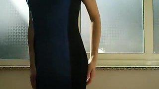 Crossdresser gown that is blue 2