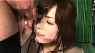 Beautiful Japanese babe gets used by wild boys in public