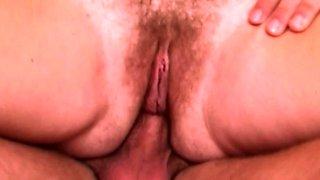 Fucking Old Mama's Hairy Wet Juicy Pussy