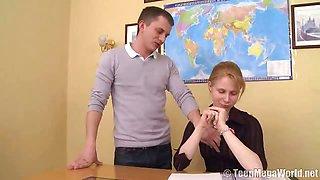 Horny teacher fucks his student