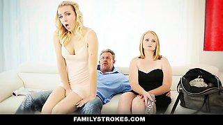FamilyStrokes - Family Fuck Threesome Sesh