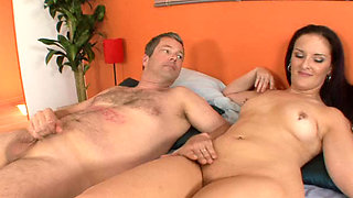 Cuckold husband watches wife get fucked