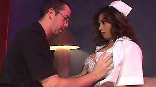 busty nurse working night shift