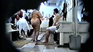 Hidden camera in woman's bath room in Russia