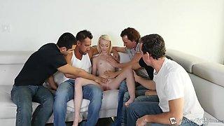 Maddy Rose And Malisa Moir - Five Guys Get Laid 18yo Schoolgirl