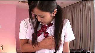 Perverted teacher undress shy Japanese college gal Ai Wakana