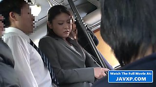 Asian woman fucked on the bus