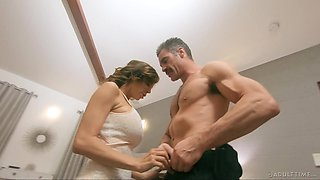 Cheating MILF cuckolds her hubby and makes him watch her fuck