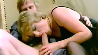 Dirty and lascivious white blonde milf wants to stuff cock in her mouth