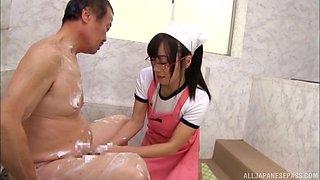 Cute nurse from Japan Mako Konno pleasing her horny patient
