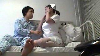 Exotic Japanese whore in Incredible Nurse JAV movie
