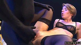 Extreme hard anal fetish gangbang with German bitch p1