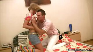 Sexually-obsessed virgin loves heavy pounding