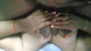 hot mallu aunty massage with loud moaning