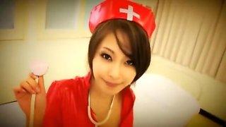 Fabulous Japanese chick Saki Ootsuka in Amazing Nurse/Naasu, Stockings/Pansuto JAV scene