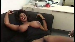 Sweet and beautiful black tramp giving head to black man