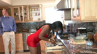 White milf Diana Prince and one black chick arrange dirty swinger party at home