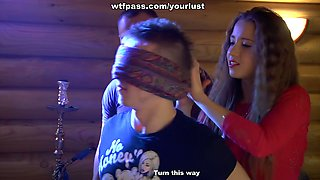 Hot teen chicks fuck horny studs at the country house