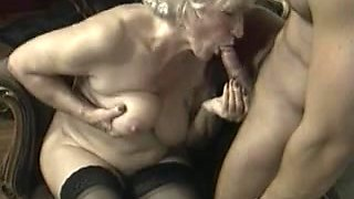 Old and young couple fucking together