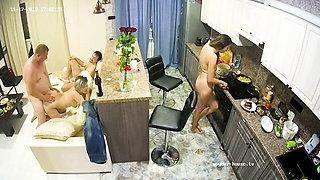 Amateur Adult Swingers on Apartment Hidden Cam