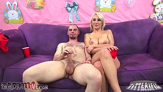 Big breasted hot blondie Lexi Swallow gets her pussy poked tough from behind