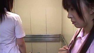 Exotic Japanese slut Rui Ayukawa, Maki Tomada, Mio Okazaki in Hottest Stockings, Lesbian JAV movie