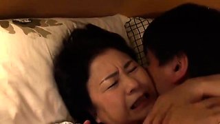 Mature Japanese wife with big natural tits gets pounded hard