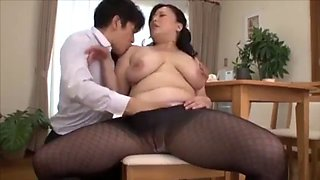 Son in law fucks mother in law in front of wife