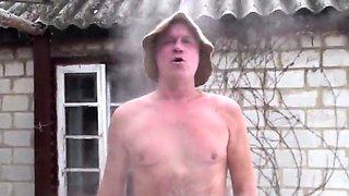 My friend after russian bath